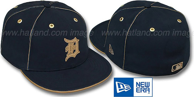 Tigers 'NAVY DaBu' Fitted Hat by New Era : pictured without stickers that these products are shipped with