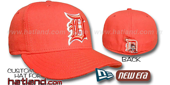 Tigers Orange-Orange '59FIFTY' Fitted Hat by New Era : pictured without stickers that these products are shipped with
