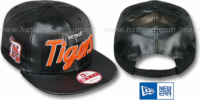 Tigers 'REDUX SNAPBACK' Black Hat by New Era : pictured without stickers that these products are shipped with