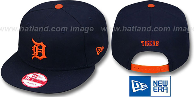 Tigers 'REPLICA ROAD SNAPBACK' Hat by New Era : pictured without stickers that these products are shipped with
