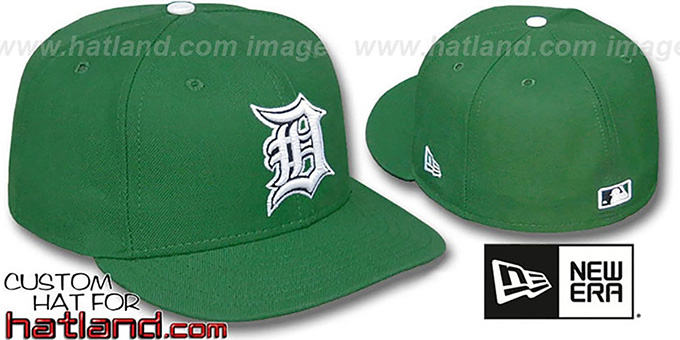 Tigers 'St Patricks Day' Fitted Hat by New Era : pictured without stickers that these products are shipped with