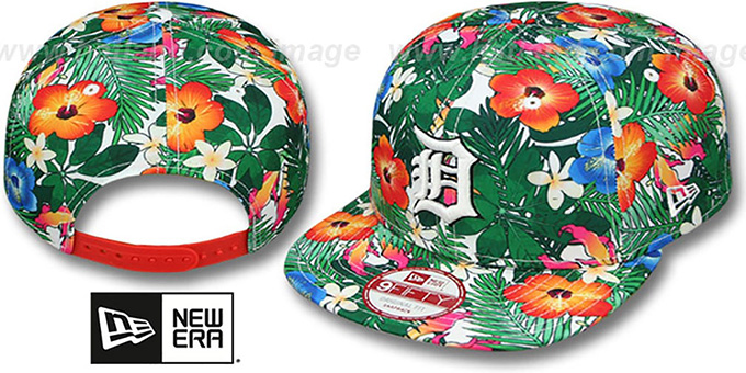 Tigers 'SUNSHINE BLOOM SNAPBACK' Hat by New Era : pictured without stickers that these products are shipped with