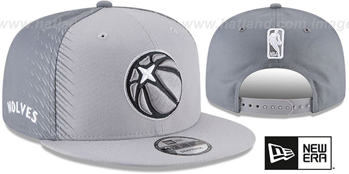 Timberwolves 'CITY-SERIES SNAPBACK' Grey-Grey Hat by New Era : pictured without stickers that these products are shipped with