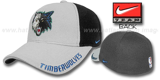 Timberwolves 'DRAFT FPK' Flex Hat by Nike : pictured without stickers that these products are shipped with