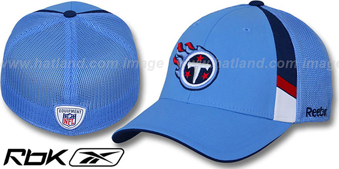 Titans '2009 DRAFT-DAY FLEX' Blue Hat by Reebok : pictured without stickers that these products are shipped with