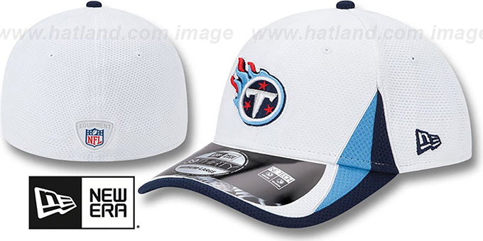 Titans '2013 NFL TRAINING FLEX' White Hat by New Era : pictured without stickers that these products are shipped with