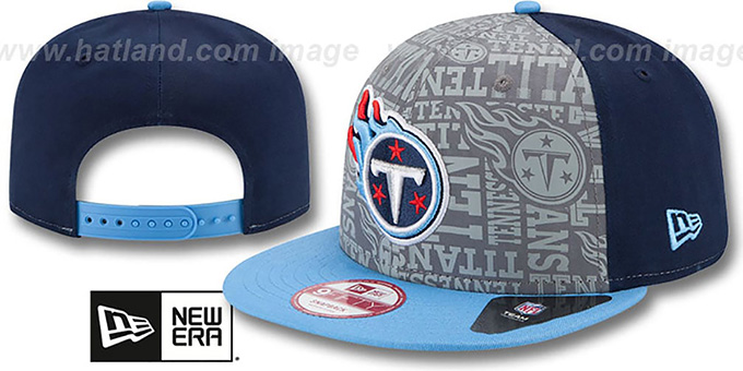 Titans '2014 NFL DRAFT SNAPBACK' Navy-Sky Hat by New Era : pictured without stickers that these products are shipped with