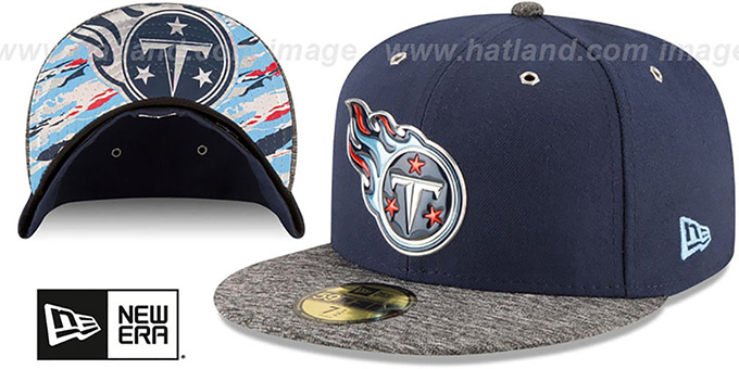 Titans '2016 NFL DRAFT' Fitted Hat by New Era : pictured without stickers that these products are shipped with