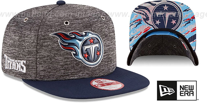 Titans '2016 NFL DRAFT SNAPBACK' Hat by New Era : pictured without stickers that these products are shipped with