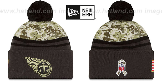 Titans '2016 SALUTE-TO-SERVICE' Knit Beanie Hat by New Era : pictured without stickers that these products are shipped with
