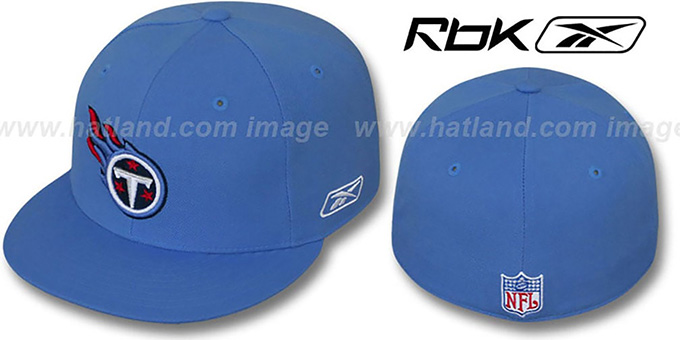 Titans 'COACHES' Light Blue Fitted Hat by Reebok : pictured without stickers that these products are shipped with