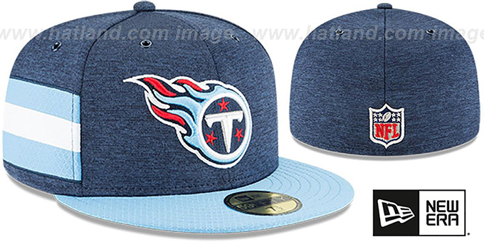 1d785b52 Tennessee Titans HOME ONFIELD STADIUM Navy-Sky Fitted Hat by New Era