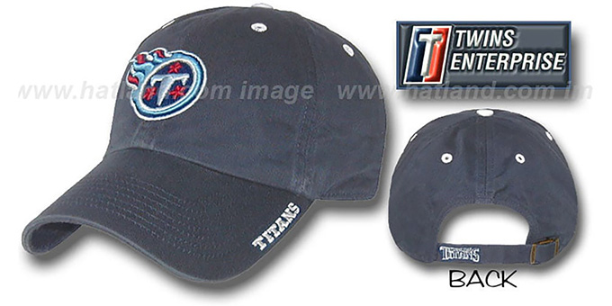 Titans 'ICE' Hat by Twins - navy : pictured without stickers that these products are shipped with