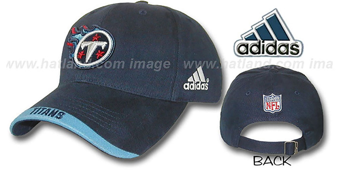Titans 'MAXIM' Hat by adidas - navy : pictured without stickers that these products are shipped with