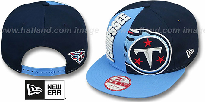 Titans 'NE-NC DOUBLE COVERAGE SNAPBACK' Hat by New Era : pictured without stickers that these products are shipped with