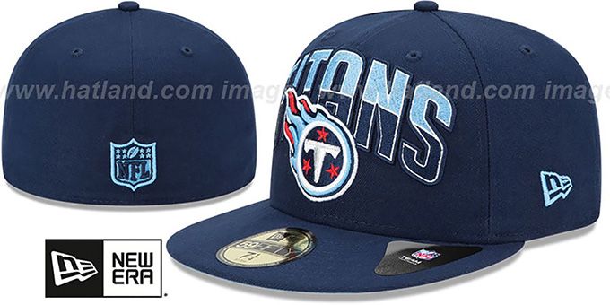 Titans 'NFL 2013 DRAFT' Navy 59FIFTY Fitted Hat by New Era : pictured without stickers that these products are shipped with