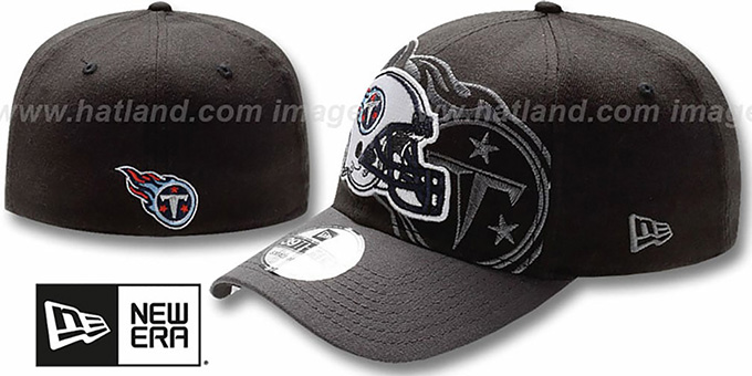 Titans 'NFL BLACK-CLASSIC FLEX' Hat by New Era : pictured without stickers that these products are shipped with