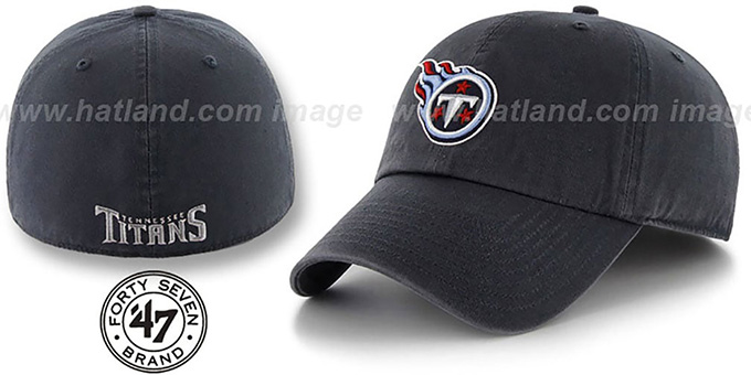 Titans 'NFL FRANCHISE' Navy Hat by 47 Brand : pictured without stickers that these products are shipped with