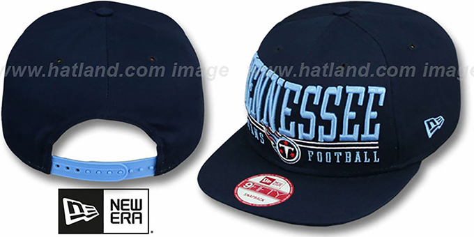 Titans 'NFL LATERAL SNAPBACK' Navy Hat by New Era : pictured without stickers that these products are shipped with