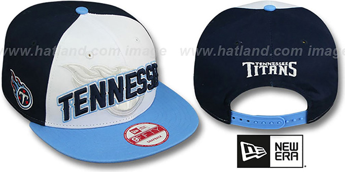 Titans 'NFL ONFIELD DRAFT SNAPBACK' Hat by New Era : pictured without stickers that these products are shipped with