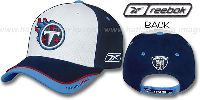 Titans 'TRAINING CAMP' Hat by Reebok : pictured without stickers that these products are shipped with