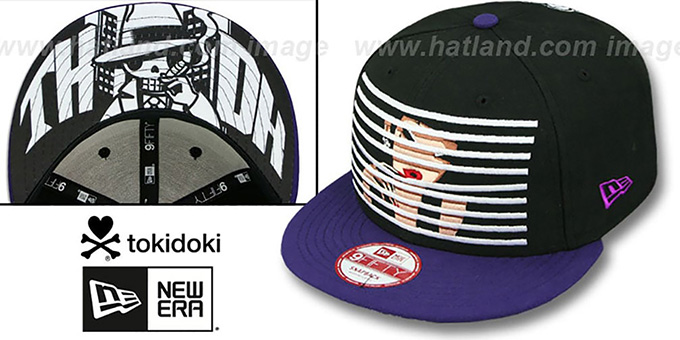 TokiDoki 'BLINDED SNAPBACK' Hat by New Era : pictured without stickers that these products are shipped with