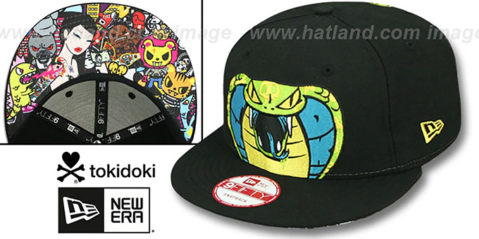 TokiDoki 'FANG IT SNAPBACK' Hat by New Era : pictured without stickers that these products are shipped with
