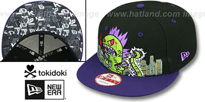 TokiDoki 'SMASHED SNAPBACK' Hat by New Era : pictured without stickers that these products are shipped with