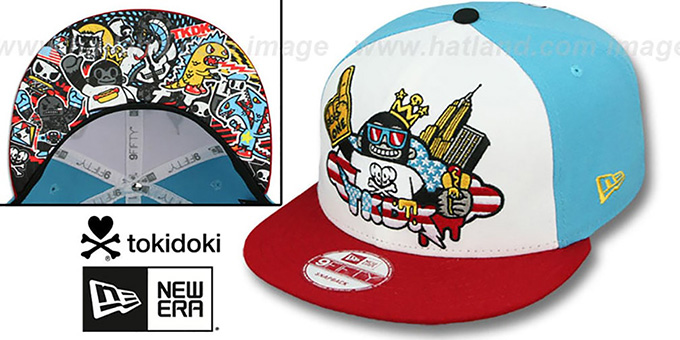 TokiDoki 'TOURIST TRAP SNAPBACK' Hat by New Era : pictured without stickers that these products are shipped with