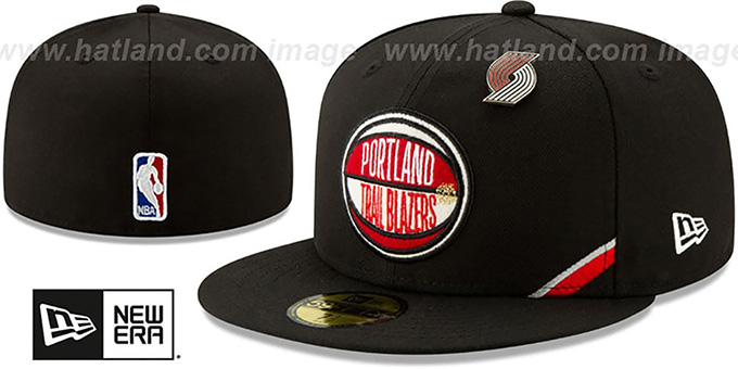Trailblazers '2019 NBA DRAFT' Black Fitted Hat by New Era