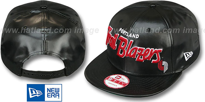 Trailblazers 'REDUX SNAPBACK' Black Hat by New Era : pictured without stickers that these products are shipped with