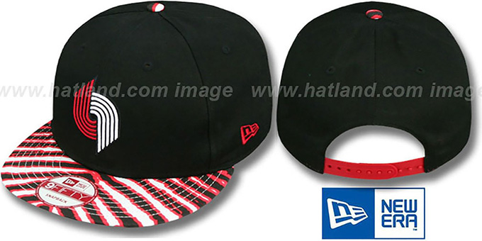 Trailblazers 'ZUBAZ SNAPBACK' Adjustable Hat by New Era : pictured without stickers that these products are shipped with