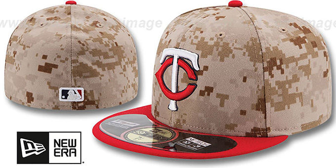 Twins '2014 STARS N STRIPES' Fitted Hat by New Era : pictured without stickers that these products are shipped with