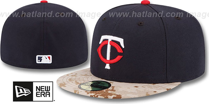 Twins '2015 STARS N STRIPES' Fitted Hat by New Era : pictured without stickers that these products are shipped with