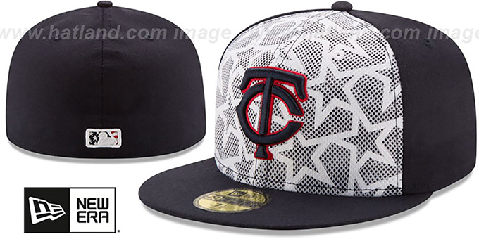 Twins  2016 JULY 4TH STARS N STRIPES  Fitted Hat by New Era a9599ef0fc5