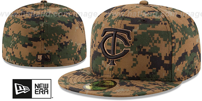 Twins 2016 MEMORIAL DAY 'STARS N STRIPES' Hat by New Era : pictured without stickers that these products are shipped with