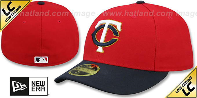 Twins 'LOW-CROWN' ALTERNATE-2 Fitted Hat by New Era : pictured without stickers that these products are shipped with