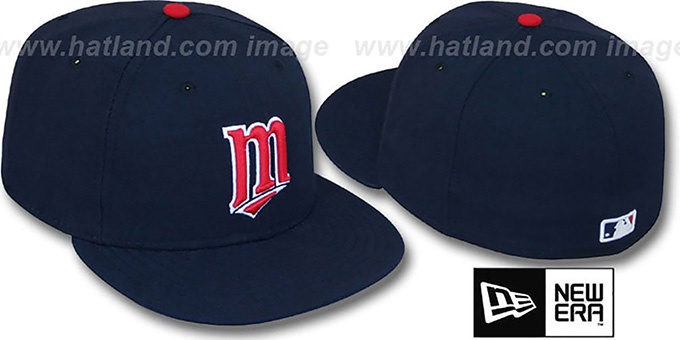 Twins '2014 PERFORMANCE ALTERNATE' Hat by New Era : pictured without stickers that these products are shipped with