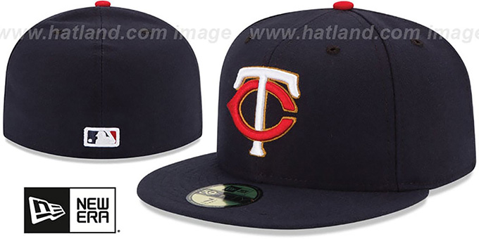 Twins 'PERFORMANCE ALTERNATE' Hat by New Era : pictured without stickers that these products are shipped with