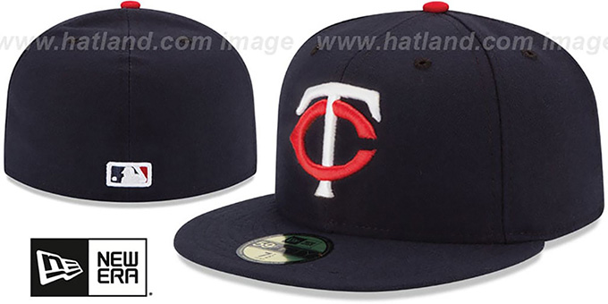 Twins 'PERFORMANCE HOME' Hat by New Era : pictured without stickers that these products are shipped with