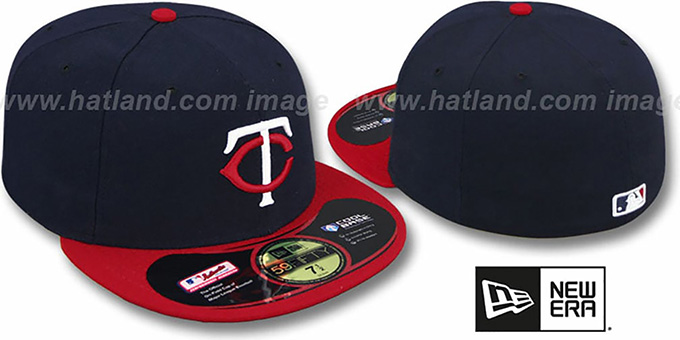 Twins 'PERFORMANCE ROAD' Hat by New Era : pictured without stickers that these products are shipped with