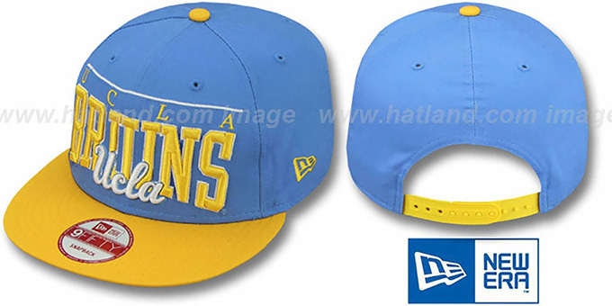 UCLA 'LE-ARCH SNAPBACK' Sky-Gold Hat by New Era : pictured without stickers that these products are shipped with