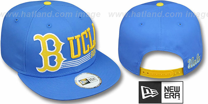 UCLA 'RETRO-SNAPBACK' Blue Hat by New Era : pictured without stickers that these products are shipped with