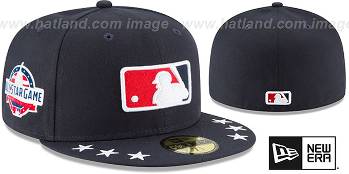 Umpire '2018 MLB ALL-STAR WORKOUT' Navy Fitted Hat by New Era