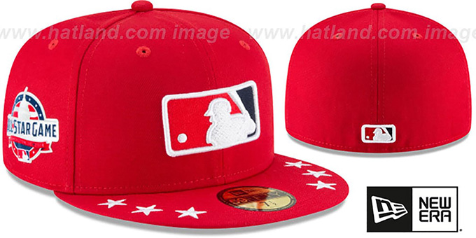 Umpire '2018 MLB ALL-STAR WORKOUT' Red Fitted Hat by New Era