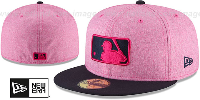 2df9cd563ef Umpire 2018 MOTHERS DAY Pink-Navy Fitted Hat by New Era