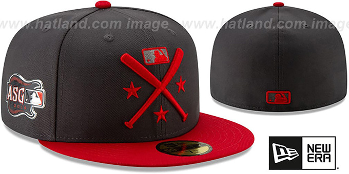 Umpire '2019 MLB ALL-STAR WORKOUT' Grey-Red Fitted Hat by New Era