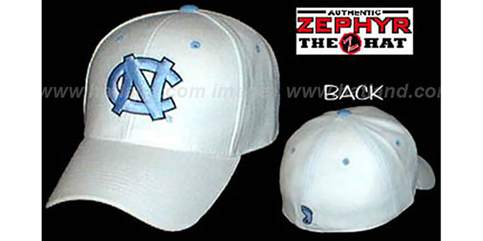 UNC 'DH Fitted' Hat by ZEPHYR - ivory : pictured without stickers that these products are shipped with
