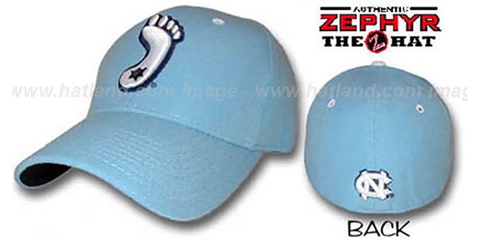 UNC 'DHS' Fitted Hat by ZEPHYR - columbia : pictured without stickers that these products are shipped with