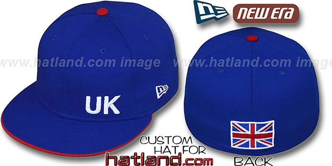 United Kingdom 'FLAWLESS' Royal Fitted Hat by New Era : pictured without stickers that these products are shipped with